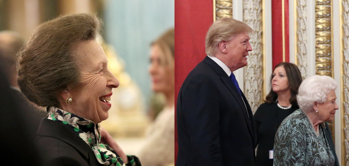 princesa ana desplante donald trump reina isabel