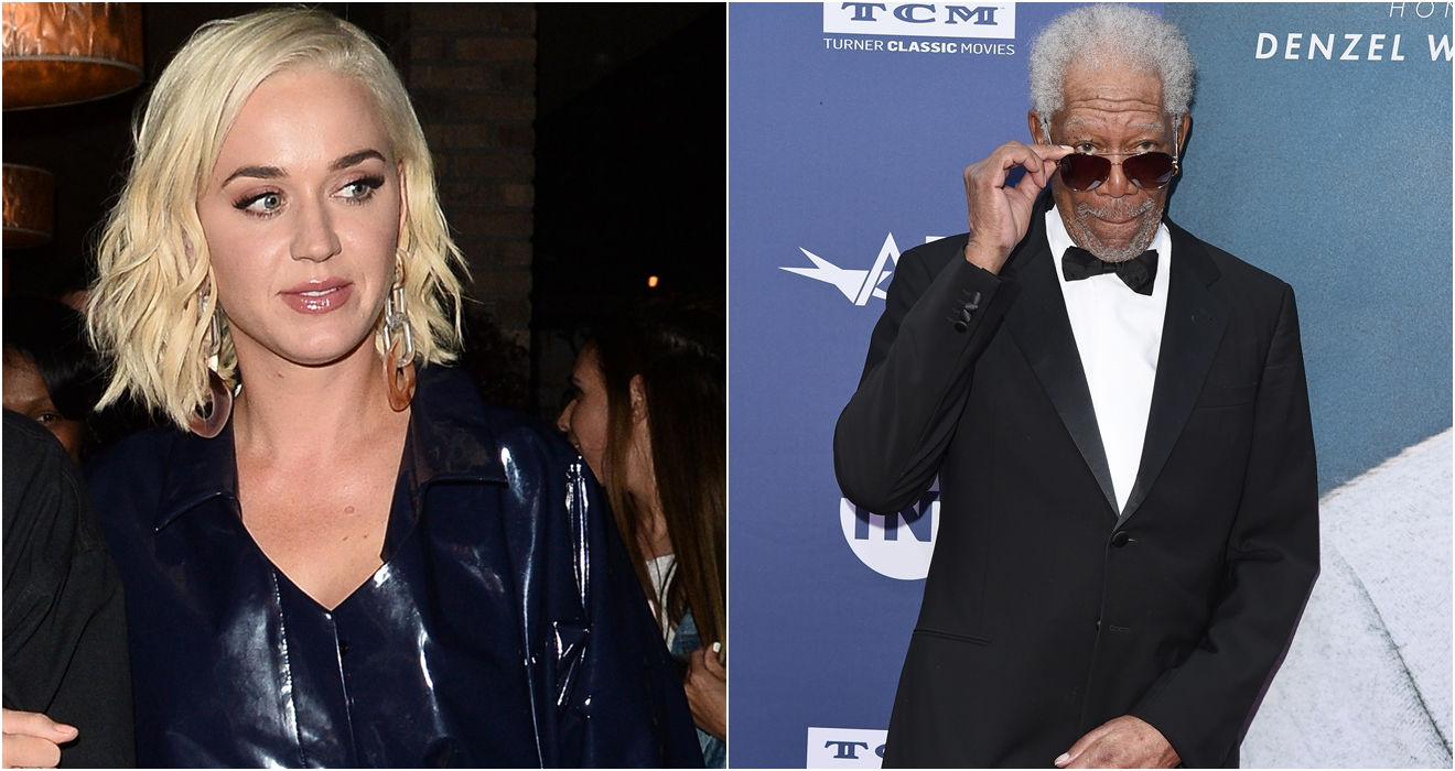 katy perry, katy perry acoso, morgan freeman, morgan freeman acoso