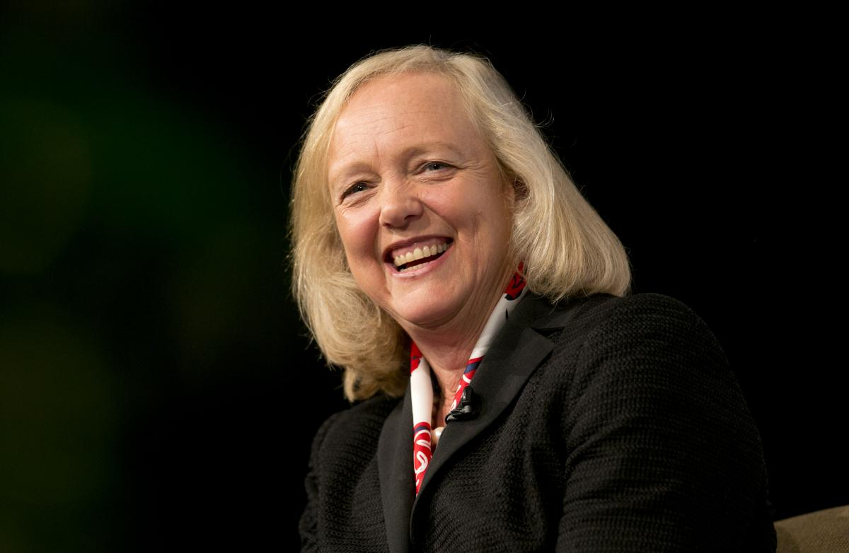 Sociales Meg Whitman, CEO de HP