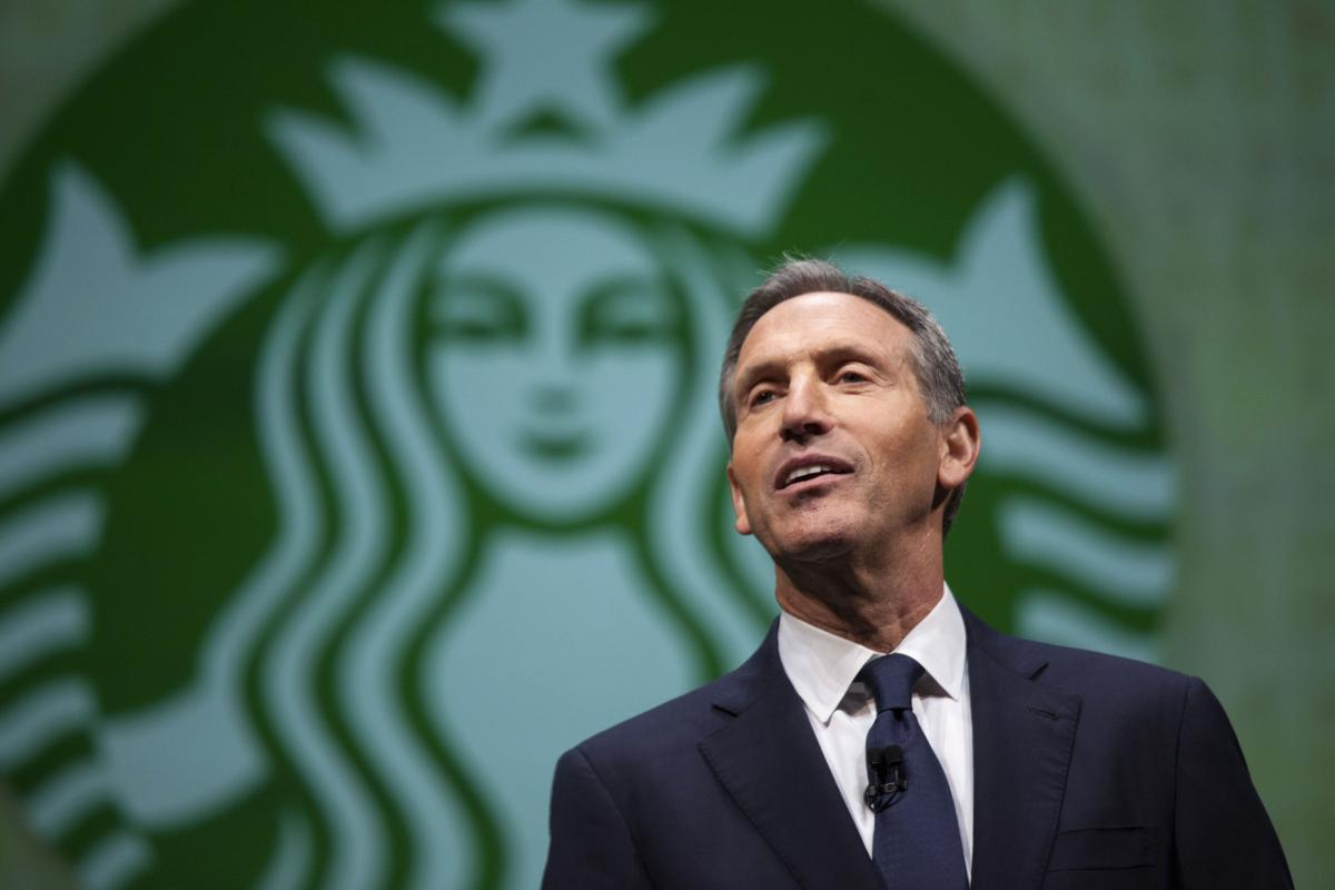 Sociales Howard Schultz, el director de Starbucks