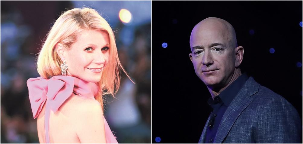 jeff bezos, gwyneth paltrow, jeff bezos ignora a gwyneth