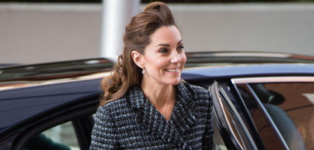 kate middleton traje gris tweed