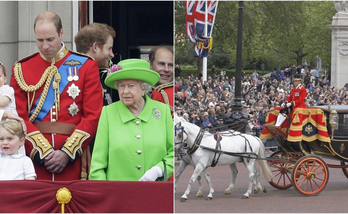 trooping the colour, trooping the colour 2019, trooping the colour desfile, que es trooping the colour, familia real trooping the colour