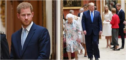 principe harry, donald trump palacio buckingham, donald trump desagradable meghan markle,