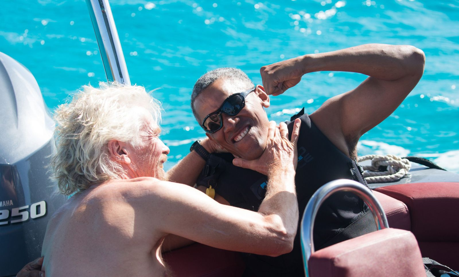 barack obama y Richard Branson