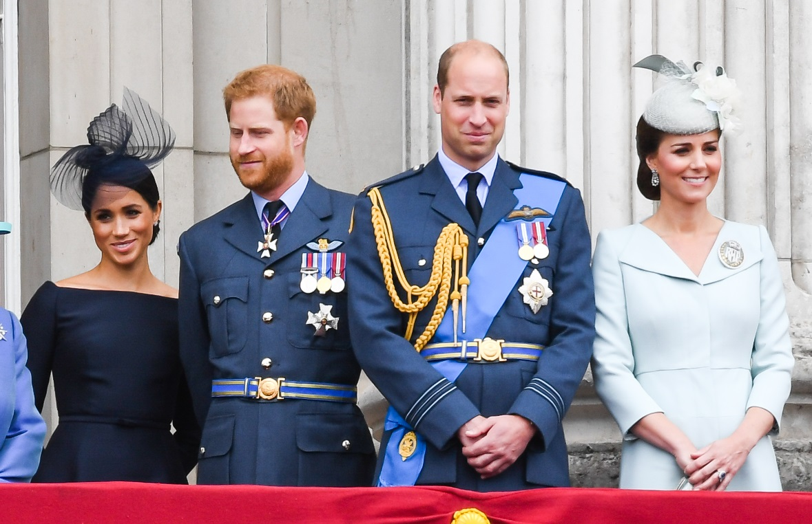 Meghan, Harry, William y Kate